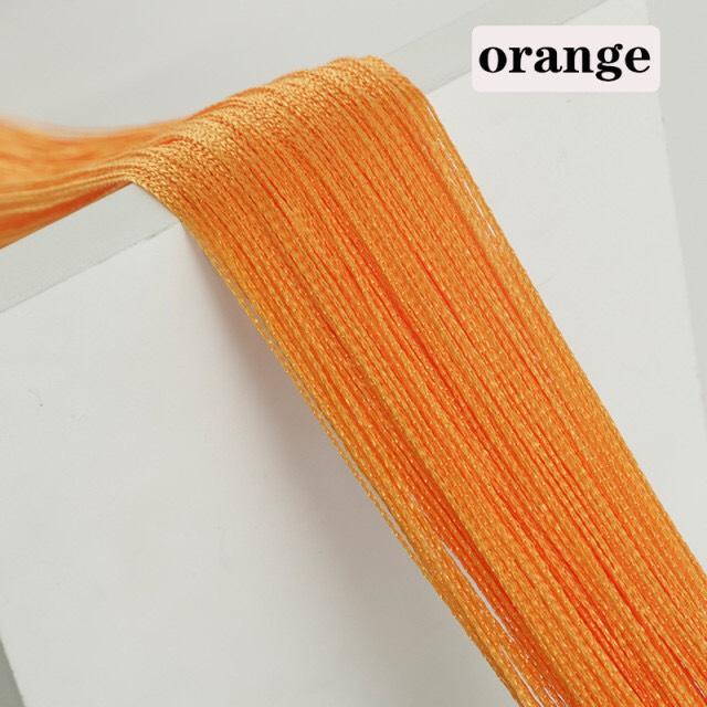 Rèm Sợi Chỉ Trơn 1 Màu Orange